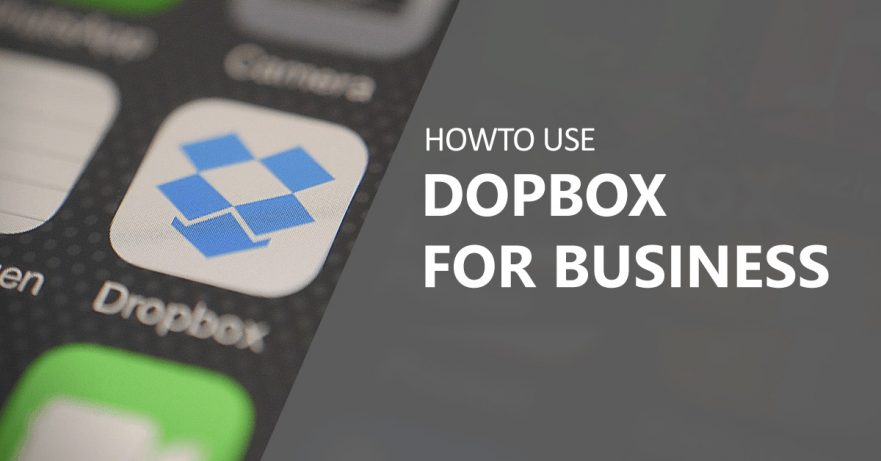 howto use Dropbox for business