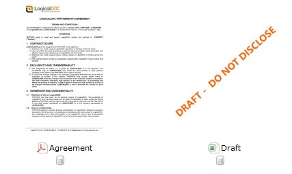 "Watermark the PDF (on the left) with the ""Draft"" image (on the right)"
