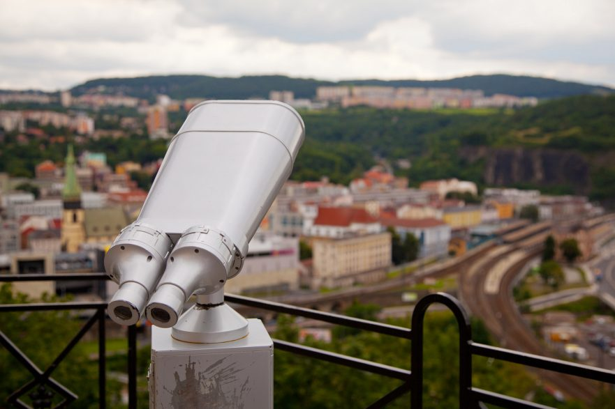 sightseeing telescope